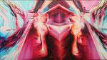 Double Motion III 2010, Acryl auf Leinwand, 140x250cm