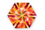 Orange Hexoganal, Acryl auf Leinwand, 80x80cm
