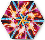 Pink Hexoganal, Acryl auf Leinwand, 80x80cm