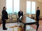 أمام السيد الرئيس بشار الأسد السيد رضوان لطفي يؤدي اليمين القانونية سفيرا لسورية لدى ألمانيا - 05.01.2011