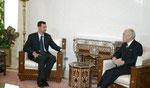 السيد الرئيس يلتقي السفير الياباني- 19.08.2003
