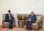 الرئيس الاسد يلتقي عضو مجلس الشيوخ الامريكي السي هاستينغز