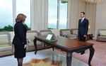 أمام السيد الرئيس أدت وزيرة الاقتصاد و التجارة السيدة لمياء عاصي اليمين الدستورية - 19.01.2010