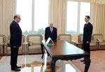 أمام السيد الرئيس بشار الأسد السيد حبيب علي عباس يؤدي اليمين القانونية سفيرا لسورية لدى السودان - 05.01.2011