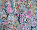 """Stamen Nodes""  2013 | Gouache, Acrylic inks on paper | 44 x 55 in (112  x 140 cm)"