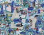 UT-6397-16  | 2016 | Acrylic, Flashe, inks on canvas | 36 x 44 in (91 x 112 cm)