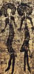 WEIBLICHE FIGUREN, 50X100CM, MATERIALE VINILICO/GOLDBLATT AUF LEINWAND, PREIS AUF ANFRAGE