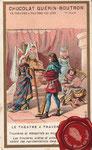 1900 ca. Chocolat Guérin-Boutron - Trouvères et mènestrels au moyen-áge
