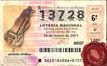 2001 Décimo de la lotería nacional <<Zanfoña>>