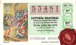1976 Décimo de lotería nacional <<Juglar>>