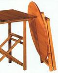 Taules de fusta plegables