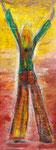 Danke!, Acryl auf Pappe und Pappe auf Holz, 28x 73 cm, 100 €