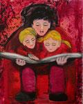 Märchenstunde, Acryl aufLeinwand, 80x 100 cm, 350 €