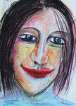 Clown, Wachs auf Papier, 29x39 cm, 250 €