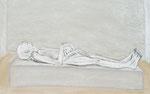 Der Tote von Rechts,  Kohle und Kreide auf Pappe, 50x70 cm, 250 €