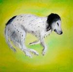 Snoopy träumt, Öl auf Leinwand, 50x50 cm, unverkäuflich,