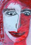 Nymphomanin, Mischtechnik auf Papier, 42x57 cm, 250 €