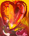 Herzbewegung, Acryl auf Leinwand, 80x 100 cm, 350 €