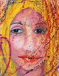 Frauentrauer, Mischtechnik auf Papier, 23x30 cm, 200 €