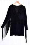Fransen Kleid schwarz - Coachella Chic