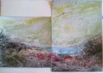 2 teilige Seelandschaft 40 cm lang x 30 cm 2 Glasrahmen € 80,--