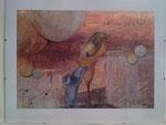 In der Ruhe liegt die Kraft Airbrushkarton 43 cm x 35 cm Glasrahmen € 80,--