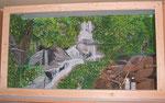 Terrarium ca. 1,6m x 2,20m x 1m mit Farben für Innen gemalt und versiegelt