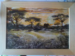 Afrika 20cm x 30 cm mit Holzglasrahmen Preis: € 50,--