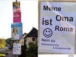 Plakate und Gegenplakat in Nürtingen im Mai 2014, Foto: Manuel Werner, 2014