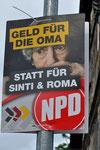 Hetze, Diskriminierung oder Meinungsfreiheit? Plakat in Nürtingen im Mai 2014, Foto: Manuel Werner, 2014