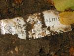 Provisorische Inschrift auf dem Grab von Dimitrio (Dimitrios) Pandelitis (1914-1944), Foto vom 20. September 2014: Monika Schmied