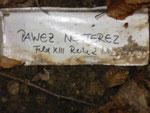 Provisorische Inschrift auf dem Grab von Pawlo (Pawel) Nesterez (1923-1944), Foto vom 20. September 2014: Monika Schmied