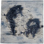 2. Kreide, Ölfarbe, 60 x 60 cm
