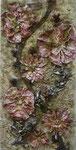 8. Schienen, Acrylfarbe, Pigmente, Papier, 40 x100 cm