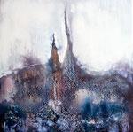 18. Acrylfarbe, Kreide,60 x 60 cm .