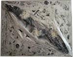 17. Acrylfarbe, Plastik, Hanf, Pappe, 100x80 cm