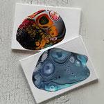 Grußkarten Pouring Art
