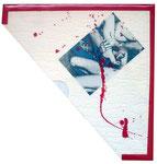 """Tapete, orig. Foto, Acryl   Inhalt 7"""" Lathe Cut mit Stücken von Eric Lunde (USA) und Dead Body Collection (Serbien)"""