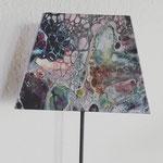 Lampenschirm Pouring Art