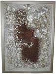 Pappe, Sand, Bauschaum 70  x100 cm
