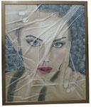 3. Acrylfarbe, Vlies, 50 x 60 cm