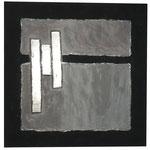 Acrylfarbe, Sand, 50 x 50 cm