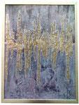 28. Spachtelmasse, Sägespäne, Acrylfarbe, 60 x 80 cm