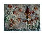 Gips, Anpflanztöpfe, Stein, Rost, Pigmente, 70 x 60 cm