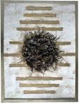 24. Acrylfarbe, Haare, 60 x 80 cm