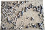 Bauschaum, Kreide, Acryl, 100 x 70 cm