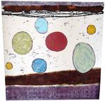 Acryl, Teelichter, Rost, 110 x 110 cm