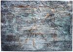 9. Sand, Rost, Acrylfarbe, Uniflott, 50x70 cm
