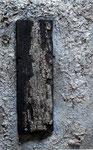 Beize und Spachtelmasse. 18x23 cm