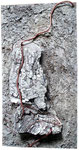 Rinde, Kupfer, Beize und Spachtelmasse, 23x42 cm
